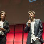 Marie-Anne Denis, présidente du Jury Education à l'information & aux Médias; Thomas Sotto, président du jury des Assises 2018