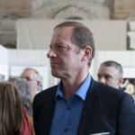 """Christian Prudhomme, directeur du Tour de France. Vernissage de l'exposition """"Les Bleus dans les Yeux des Photojournalistes de l'AFP"""""""