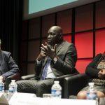 Soirée débat: Médias et migrants : Pierre Haski, président de RSF ; Madiambal Diagne, président de l'UPF Internationale ; Elyse Ngabire, journaliste burundaise de la Maison des Journalistes